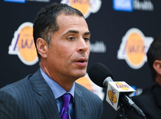 Lakers general manager Rob Pelinka acquired last year's NBA's Sixth Man of the Year (Montrezl Harrell) and also landed Marc Gasol as free agency got under way.