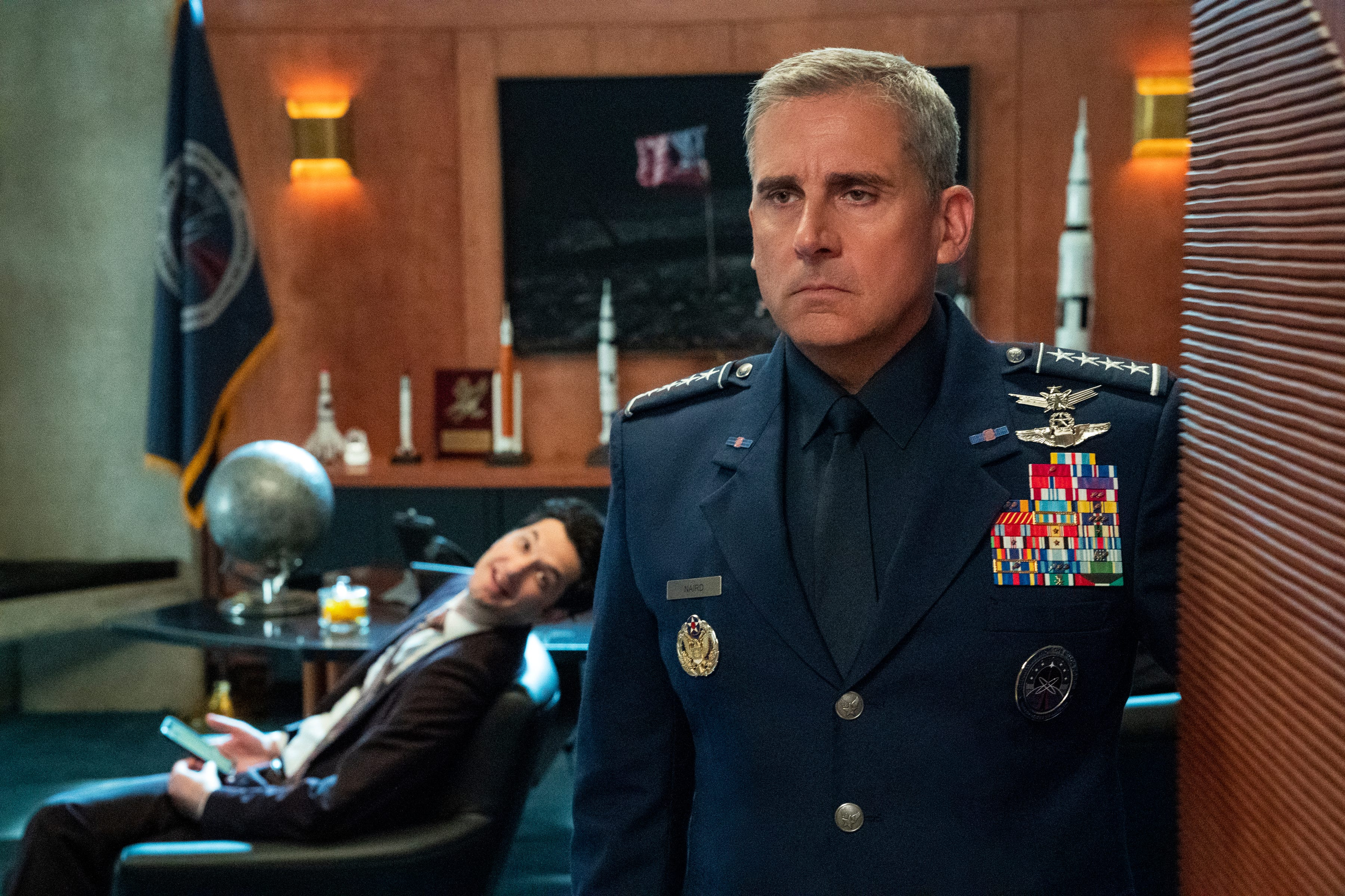 Steve Carell s  Space Force  Netflix show will blast off in May, lands big-name co-star