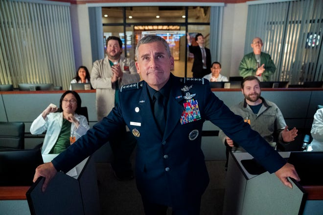 """Steve Carell plays general Mark R. Naird in """"Space Force."""" Aaron Epstein/Netflix"""