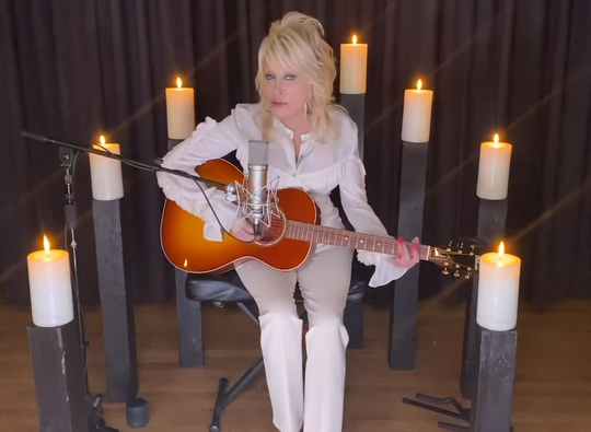 """Dolly Parton sings her favorite Kenny Rogers song, """"Sweet Music Man,"""" in a CMT special."""