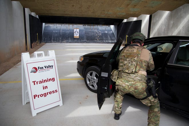 The Fox Valley Technical College Public Safety Training Center includes two 50-yard tactical firing ranges where police can practice shooting at moving targets.