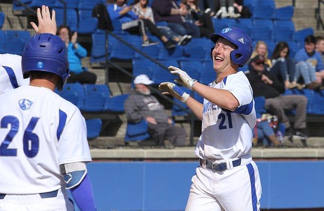 Eastern Illinois center fielder Grant Emme was named to Collegiate Baseball's Freshman All-American Team last year.