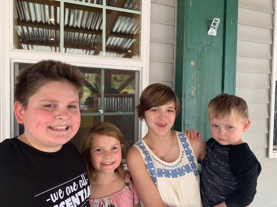 The McGovern children (left to right): Reagan, Mckenzie, Destiny, and Ryker, who is not yet school-age.