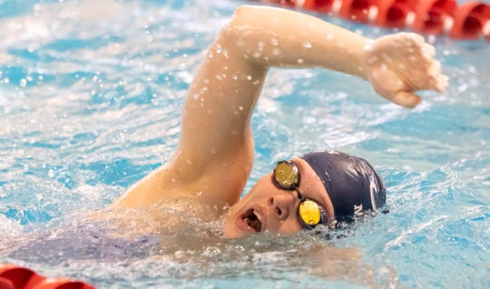 Elmira native Frances VanderMeer swims for Middlebury College.