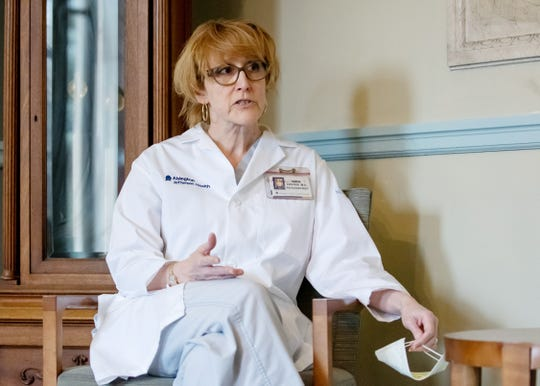 Dr. Diane Custer, chair of psychiatry at Abington-Jefferson Health addresses the ways in which the coronavirus outbreak is taking a toll on mental health during an interview Monday, March 23, 2020.