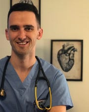 Anthony Schramm, of Vestal, graduated early from medical school and will spend the next 6-8 weeks at Stony Brook Hospital helping fight the coronavirus.