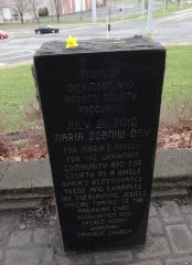A monument in honor of Maria Zobniw was built in the Town of Dickinson in 2010.