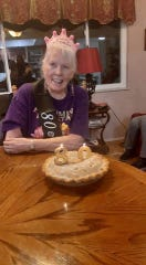 Joanne Hunter celebrates her 80th birthday.