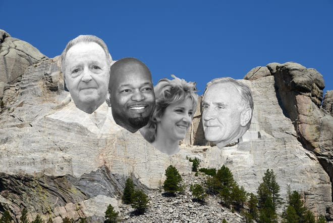 As voted by the readers, Florida's Mount Rushmore of Sports consists of former Miami Dolphins coach Don Shula, former Florida State football coach Bobby Bowden, tennis legend Chris Evert and all-time rushing leader Emmitt Smith.