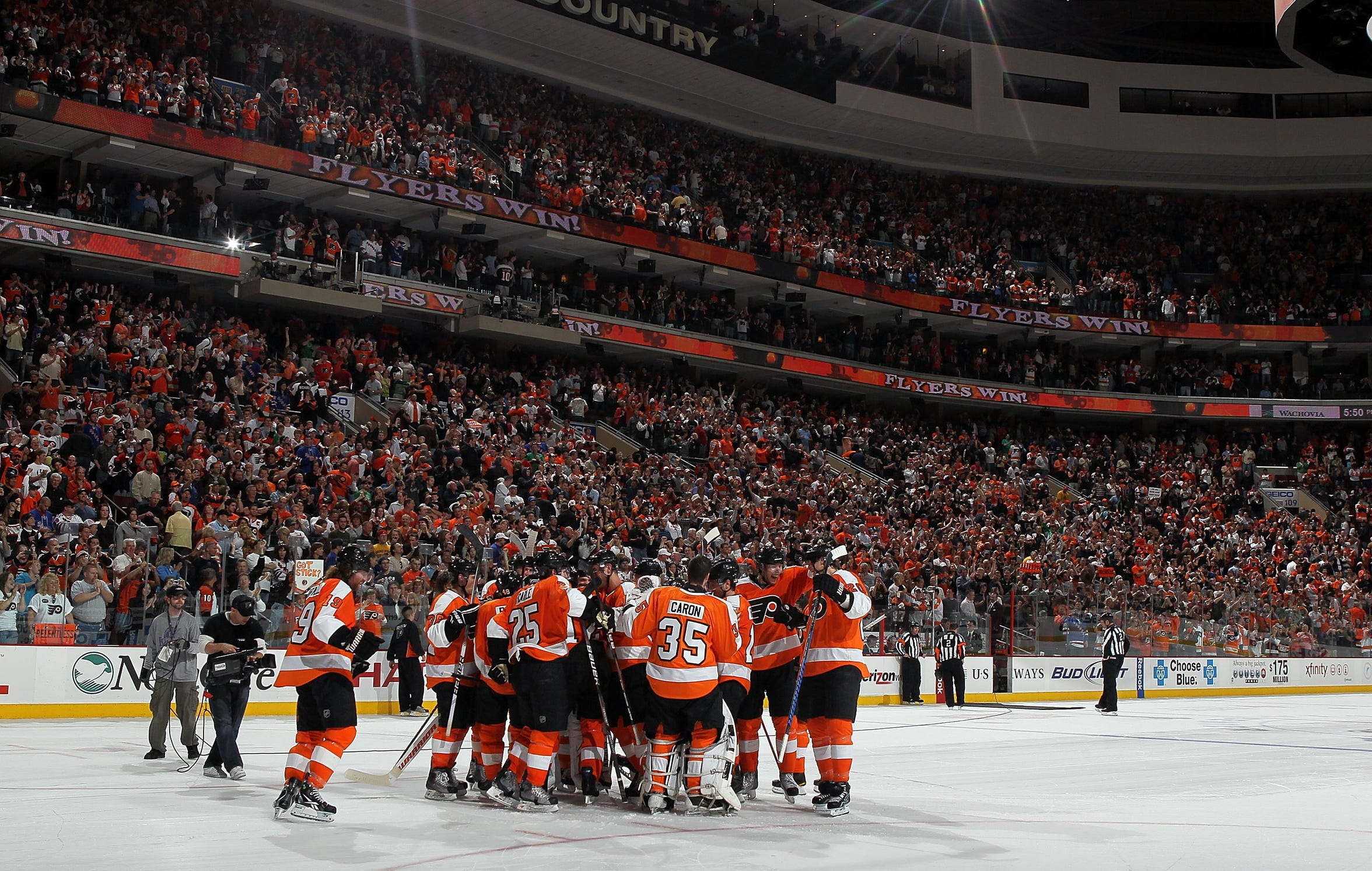 After winning Game 82, the Flyers were 24-14-3 on home ice in the 2009-10 season.