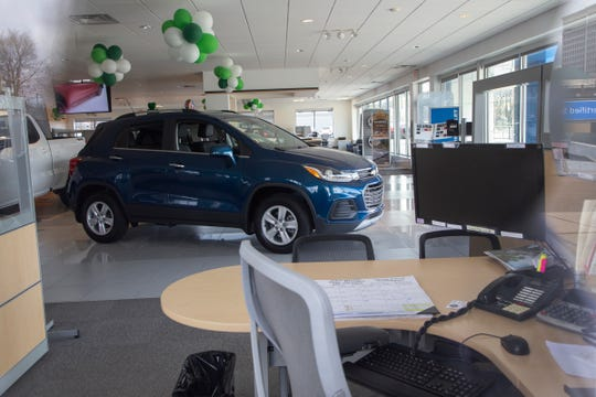 James Martin Chevrolet on Woodward Avenue in Detroit on Wednesday, April 9, 2020, will be closed until April 14 due to the risk of the Novel Coronavirus.