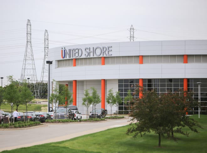 Exterior of United Shore's new headquarters in Pontiac, Mich.