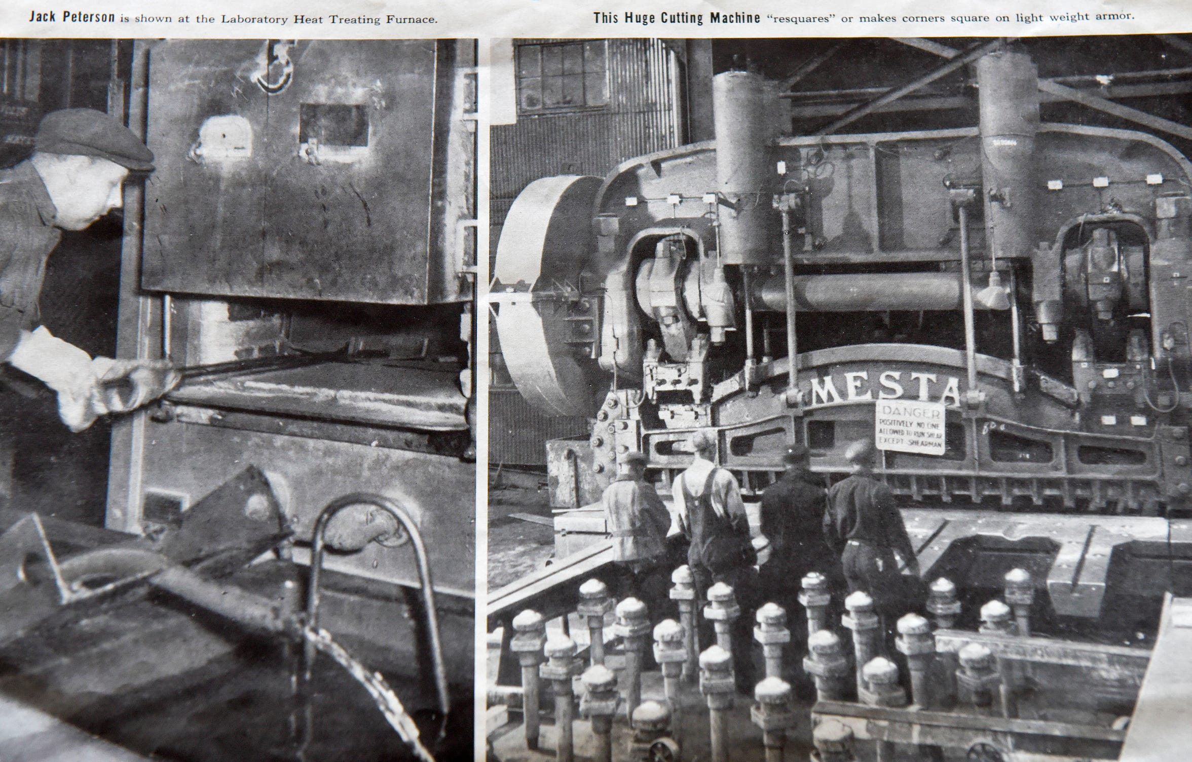 A pair of historic photos from Great Lakes Steel on Zug Island, Thursday, April 9, 2020.