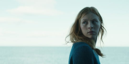"Hermione Corfield in ""Sea Fever."""