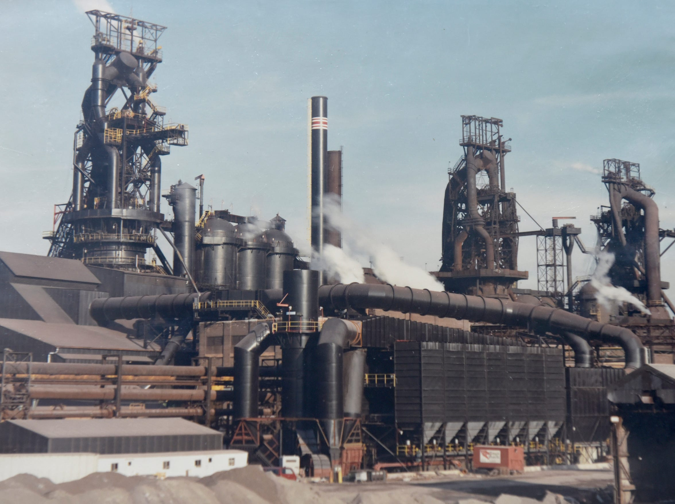 An historic photo from Great Lakes Steel.