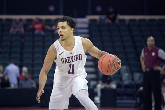 Bryce Aiken averaged 16.8 points, 2.7 assists and 2.4 rebounds over his four seasons at Harvard.