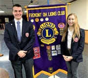 St. Joseph Central Catholic High School seniors Jack Militello and Shayla Steinberger were honored in March by the Fremont Lions Club.