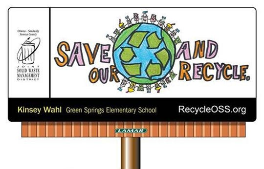 Kinsey Wahl, a fifth grade Green Springs Elementary School, student won a billboard design contest.