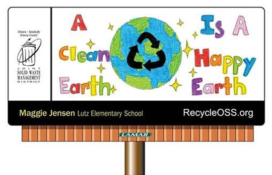 Maggie Jensen, a fifth grader at Lutz Elementary, won for this billboard.
