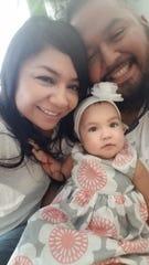 Coronavirus survivor Ernesto Castro with his girlfriend Claudia and Daughter Camilla.