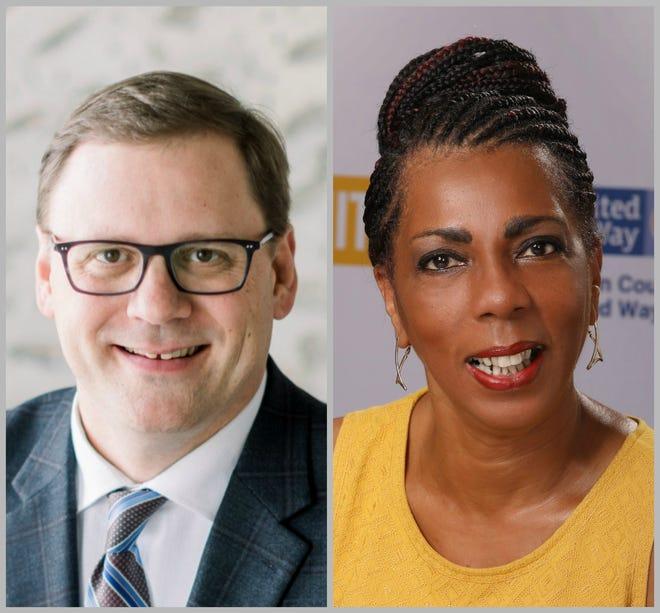 Dennis Buehler, left, and Robyn Davis