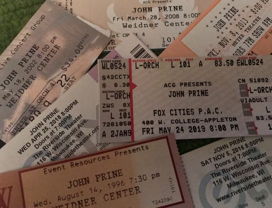 John Prine had played Green Bay's Meyer Theatre and Weidner Center over the years. His last performance in the area was in May 2019 at the Fox Cities Performing Arts Center in Appleton.