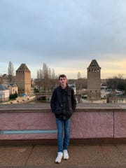 Slate Owen of Greenville, seen here in Strasbourg, France, has been in Europe with the Rotary Youth Exchange Program.