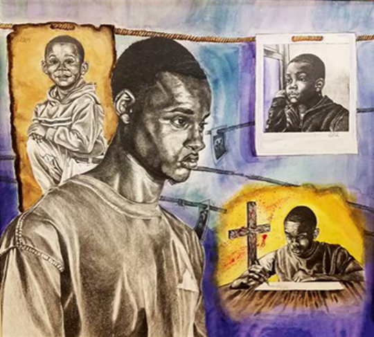 Charles Rounds, a Jackson Public Schools student, has been awarded the top honor in the 97th annual Scholastic Art & Writing Awards. This is one of his pieces.