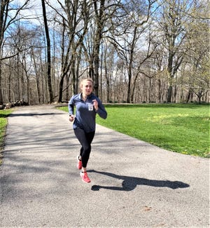 Lancaster senior Savannah Dryden and her track and field teammates are competing in social distancing meets while spring sports are postponed because of the coronavirus pandemic.