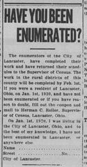 An article on the 1920 census.