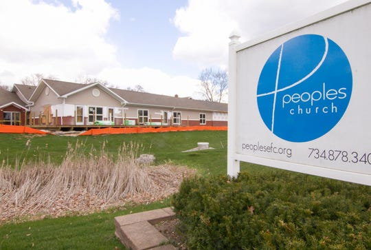 People's Evangelical Free Church in Pinckney, shown Thursday, April 9, 2020, is among several across the county that will record an Easter service to be viewed on various online platforms.