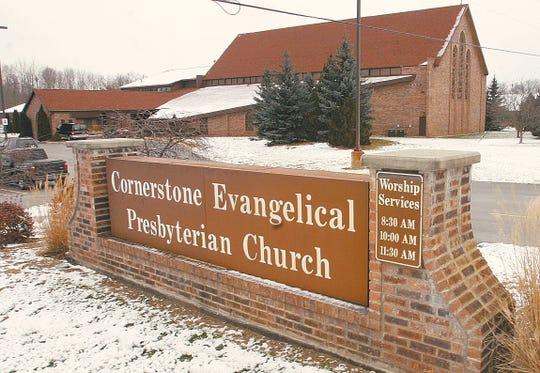 Cornerstone Evangelical Presbyterian Church on Hilton Road in Brighton Township, shown Jan. 18, 2005.