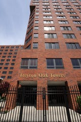 The Treyton Oak Towers in Louisville is one of several nursing homes in Kentucky that have seen a spike in coronavirus cases among residents and employees on April 9, 2020.
