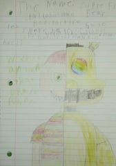 A drawing by a student during a tele-therapy session.