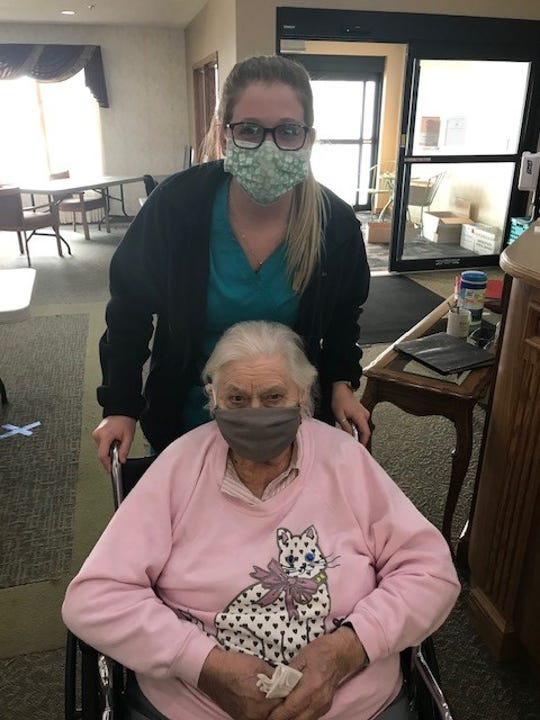 Staff, family and friends of Kingston Residence recently donated hundreds of handmade masks for staff and residents.