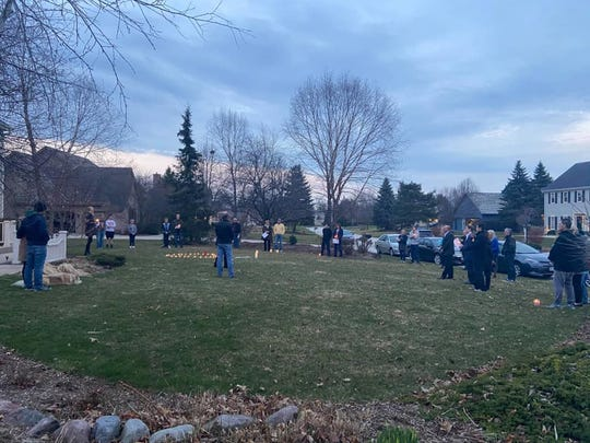 About 20 friends of Jenny and Rod Fostner gathered at their Brookfield home to sing and light candles for Donny after they heard about his death.