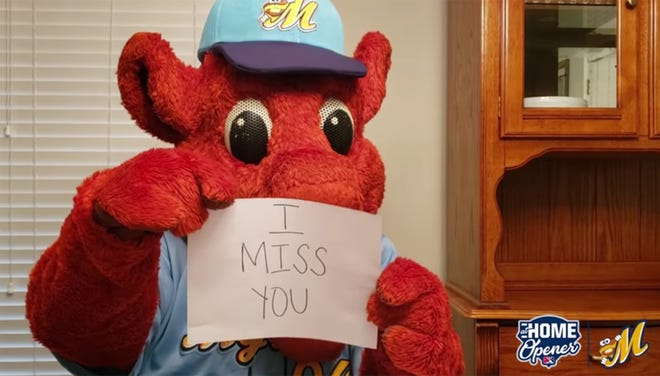 Big Mo misses the fans, and so does the rest of the Montgomery Biscuits team. Though they won't be out in person on April 15, they're planning 9 hours of fun activity on the Biscuits' Facebook page that day.