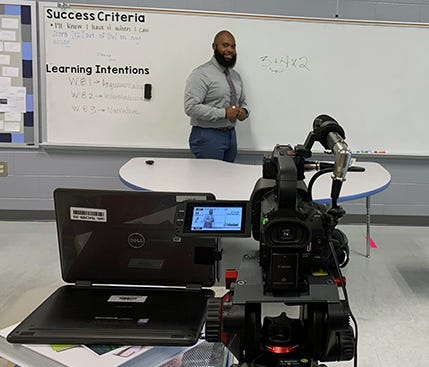 Reginald Carruth, a math teacher at La Vergne Middle School, is among six teachers from Rutherford County Schools helping deliver educational lessons through a partnership between the state of Tennessee and PBS.