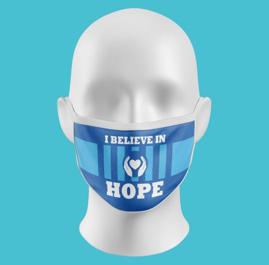 I Believe in Hope facemask.