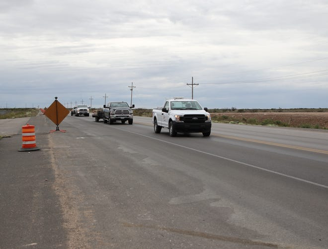 Traffic heads west on United States Highway 82 into Artesia on April 9, 2020. Construction on the project resumed last month.