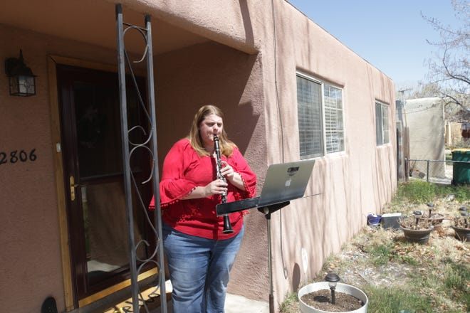 "Jennifer Lasley, director of bands at Tibbetts Middle School in Farmington, will lead a citywide, outdoor performance of the tune ""Morning Mood"" on April 10 by music students."