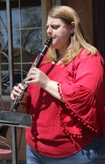 Farmington music instructor Jennifer Lasley says she hopes her plan to encourage her students to perform a tune on the morning of April 10 from their front yards will help them feel connected.