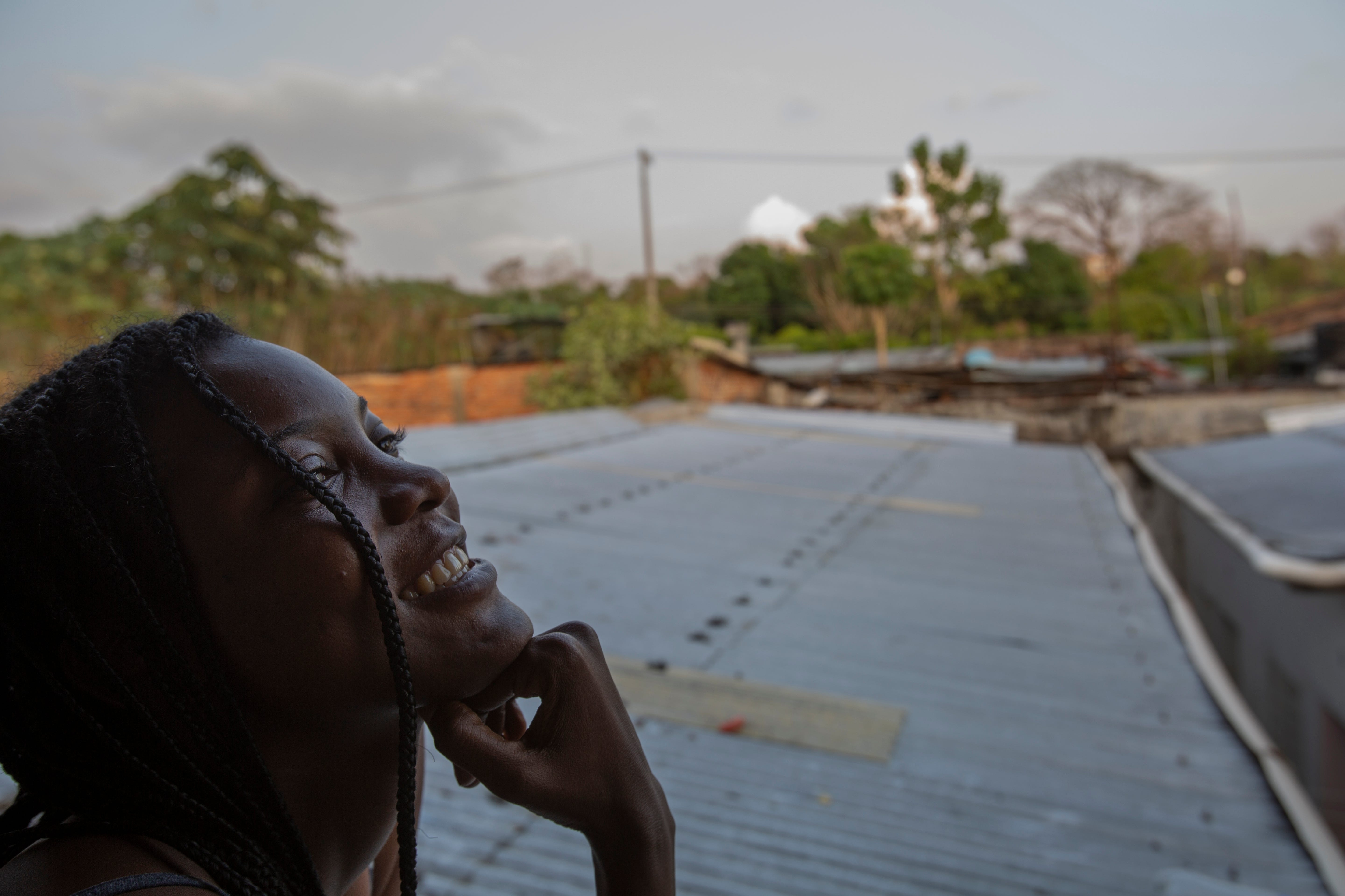 Briyanne Jeanniton, a 22-year-old Haitian migrant, is waiting in Tapachula, Chiapas, for asylum. She traveled from Chile and has aspirations to study to be a nurse.