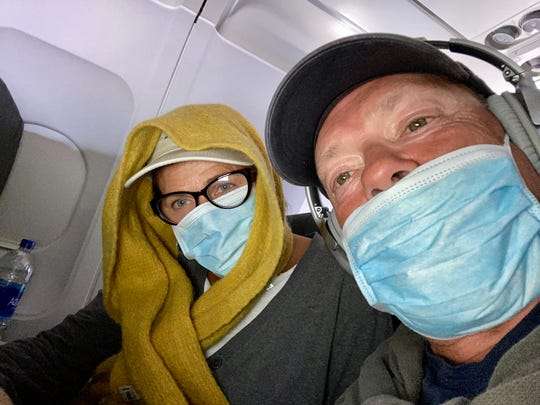 On Monday afternoon, March 30, Buena and Frank Brown were ona an American Airlines flight from San Diego to Charlotte.