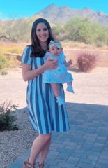 Meagan Pinney and her daughter Addison.