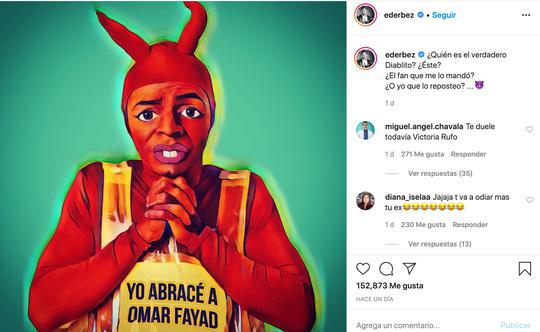 """Eugenio Derbez retoma a su personaje de """"El Diablito"""" para poner un poco de humor ante la pandemia que vive el mundo por el coronavirus."""