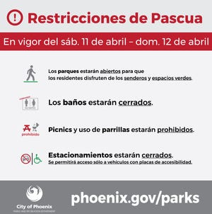 Las restricciones entran en vigor este sábado y domingo en los parques municipales.