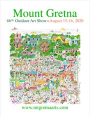 Mount Gretna Outdoor Art Show poster for 2020. Organizers announced the show was cancelled on Thursday.
