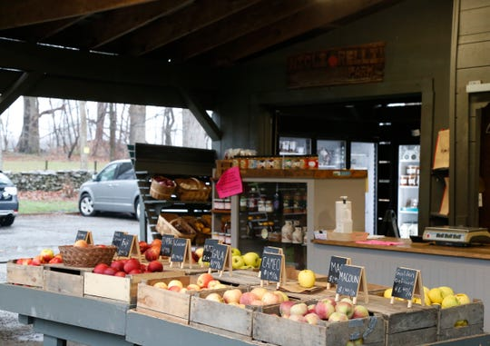 Produce for sale inside the Migliorelli farm stand in Rhinebeck on April 9, 2020.