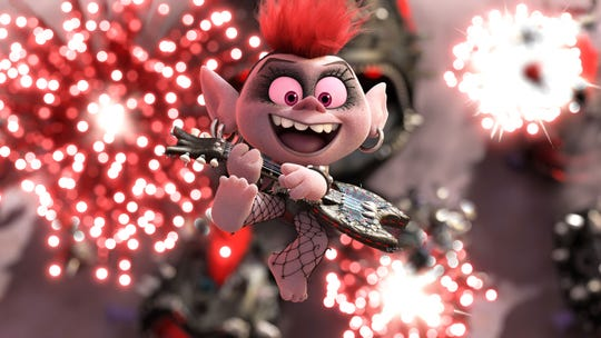 "Queen Barb is voiced by Rachel Bloom in the movie ""Trolls World Tour."""
